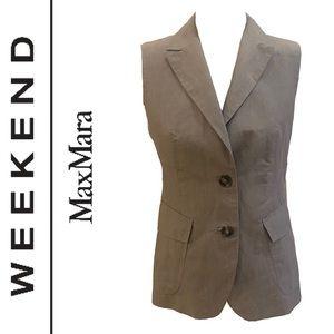 WEEKEND MAXMARA linen cotton blend vest